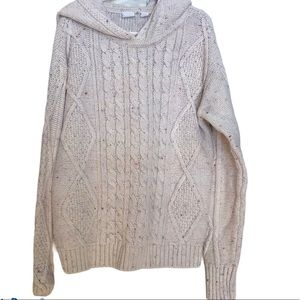 Gap Hooded Cable Hooded Knit Sweater- girls XL
